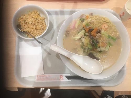 「長崎チャンポン麺1.5倍ミニチャーハン」@長崎ちゃんぽん リンガーハット ニトリモール枚方店の写真