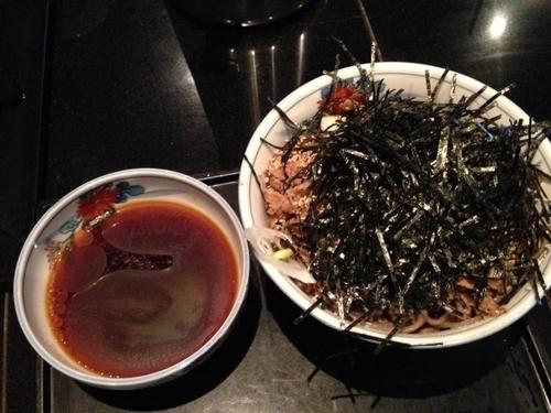「冷たい肉そば」@そば処 港屋MINATOYAの写真