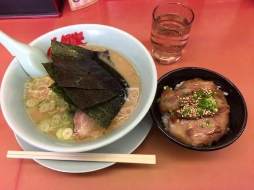 「醤油ラーメン(ランチAセット) 690円」@ラーメン山岡家 厚木店の写真