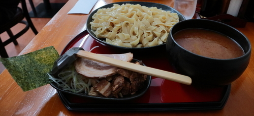 「つけ麺(平打ち麺)大盛」@くりの木 上尾店の写真