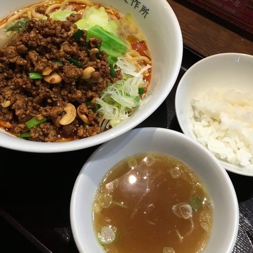「【限定】汁なし担々麺+追い飯」@中華そば 飯村製作所の写真