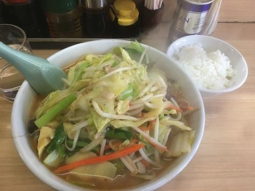 「味噌タンメンセット(餃子、ライス) ¥850」@タンメン胖の写真