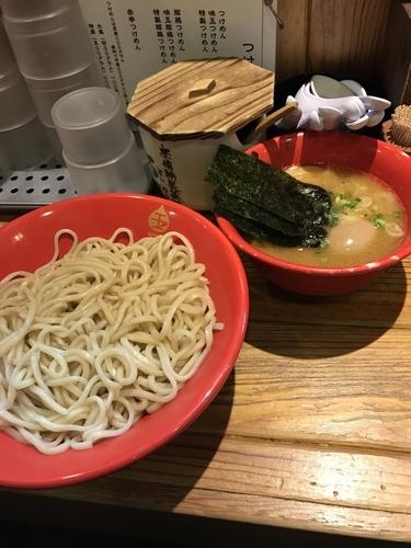 「50豚鶏つけ麺 中盛(¥1.000)」@赤備の写真