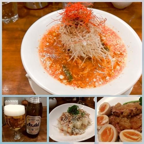 「酸辣麺850円+ビール他」@創作麺工房 鳴龍の写真
