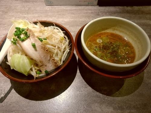 「温野菜つけ麺(中盛・250g)750円」@麺処湊生の写真