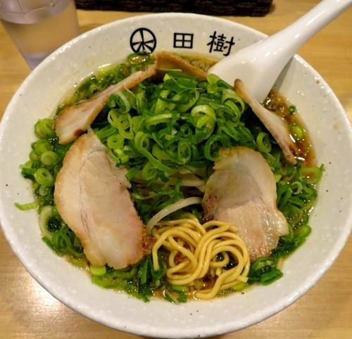 「京都ラーメン豚骨醤油+九条ネギ(830円)」@京都らーめん 炭火串焼き 田樹の写真