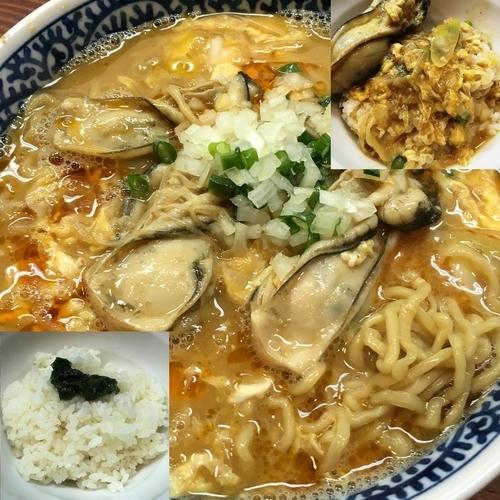 「【限定】牡蠣味噌拉麺」@良温(Ra-on)の写真