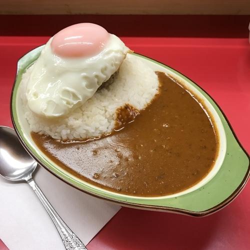 「ハンバーグカレー目玉焼付 70辛」@カレーショップ シュクリアの写真