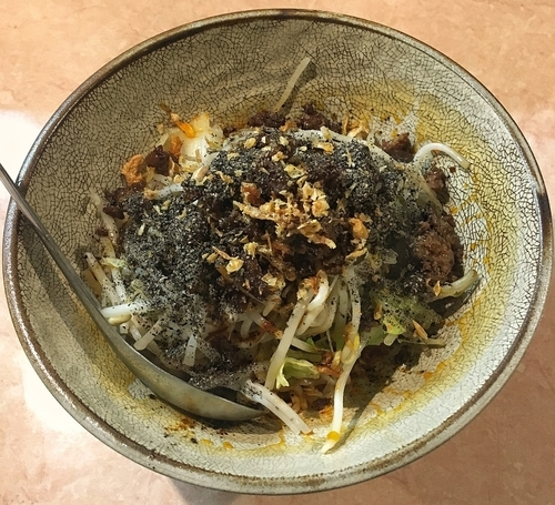「汁のない担々麺 800円」@湯麺 破天荒の写真