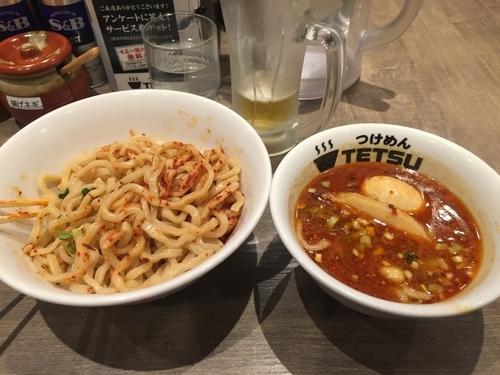 「辛つけ麺」@つけめんTETSU 調布店の写真