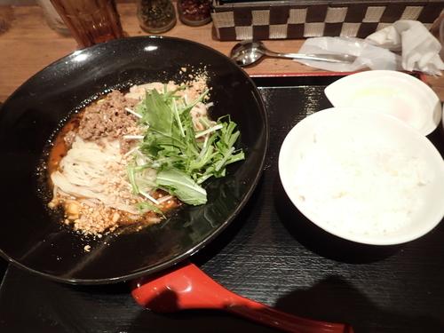「汁無し坦々麺セット(1000円→900円)」@麻 SHIBIREの写真