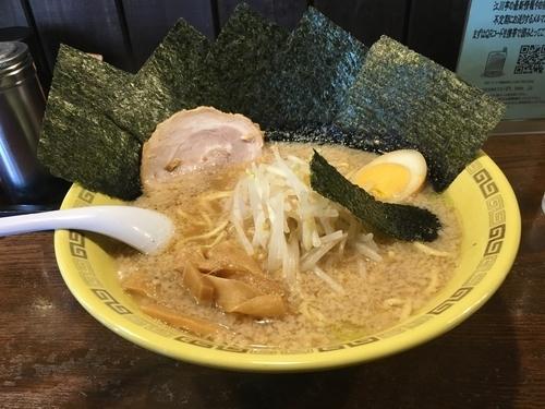 「のり麺(カタメ)¥750+大盛り¥100」@江川亭 調布店の写真