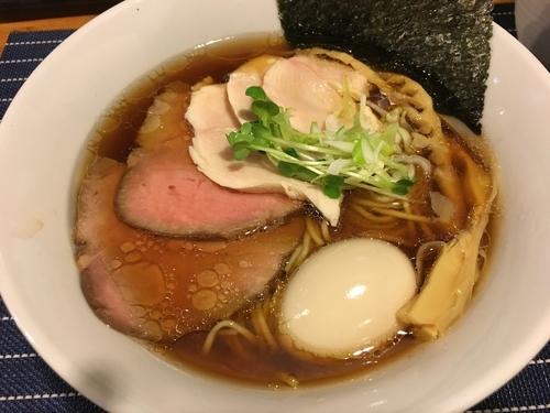 「チャーシュー中華そば(醤油)+味玉」@中華蕎麦 はざまの写真