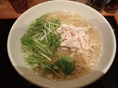 「さっぱり鶏塩そば(900円)」@麻 SHIBIREの写真