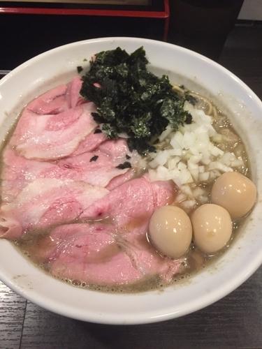 「煮干しそば うずら 肉増し」@灰汁中華 丿貫 福富町本店の写真