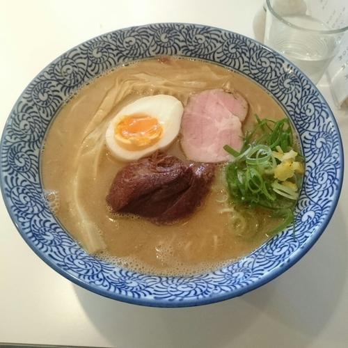 「鯛と名古屋コーチンのW白湯そば @850円 限定」@麺屋 169の写真