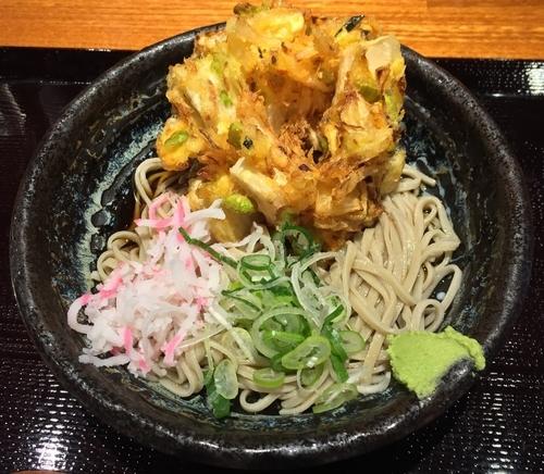 「天ぷらそば・冷(¥400)」@蕎麦 冷麦 嵯峨谷 秋葉原店の写真