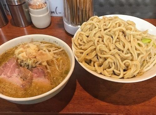 「つけ麺(ヤサイ、アブラ) 800円」@ラーメンむねやの写真