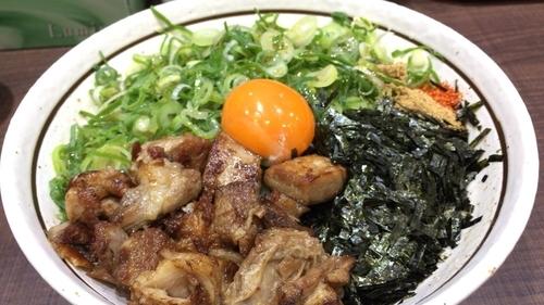 「九条ねぎ塩まぜそば」@濃厚担々麺はなび 錦店の写真