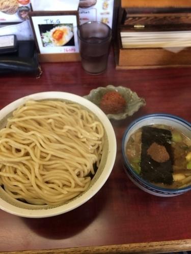 「つけ麺大盛り あつもり 辛だんご」@にぼshin. 弘前店の写真