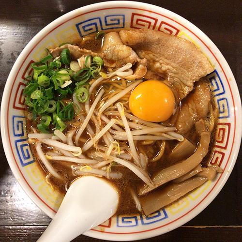 「【限定】月見らーめん」@づゅる麺 池田の写真