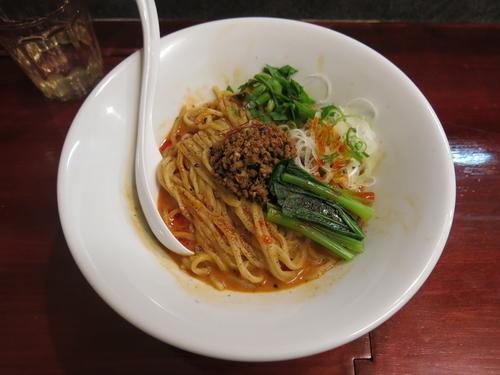 「汁なし担々麺(辛さスタンダード):850円」@noodles house 錦鯉の写真