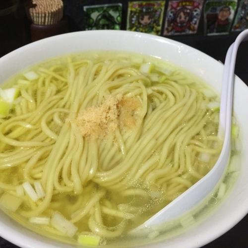 「麺が太い塩そば(具なし)」@塩そば専門店 桑ばらの写真