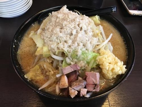 「すたみそ 大盛 野菜大 脂増し」@麺匠 真武咲弥 松本店の写真