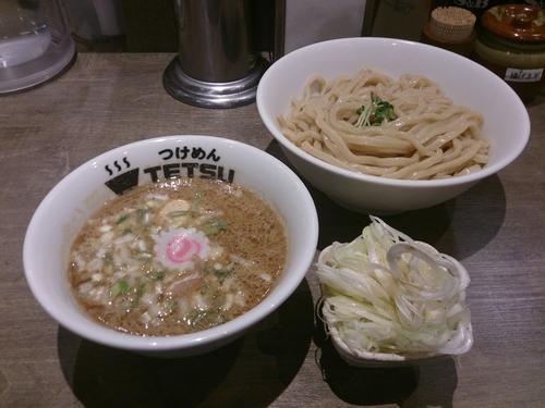 「ネギつけめん+味玉」@つけめんTETSU 調布店の写真