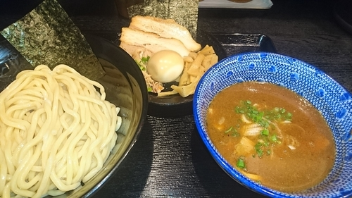 「濃厚魚介つけ麺+特製トッピング②」@麺屋 中川會 錦糸町店の写真