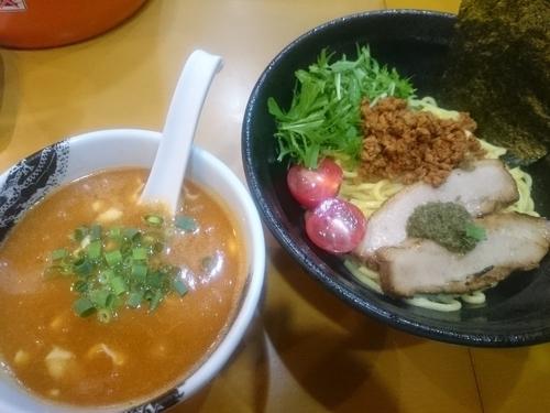 「【限定】ガーリックトマトのジェノベーゼつけ麺」@麺屋 扇 SENの写真