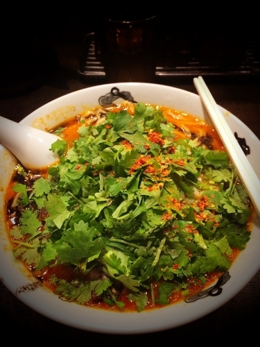 「カラシビ味噌らー麺パクチートッピング」@カラシビ味噌らー麺 鬼金棒の写真