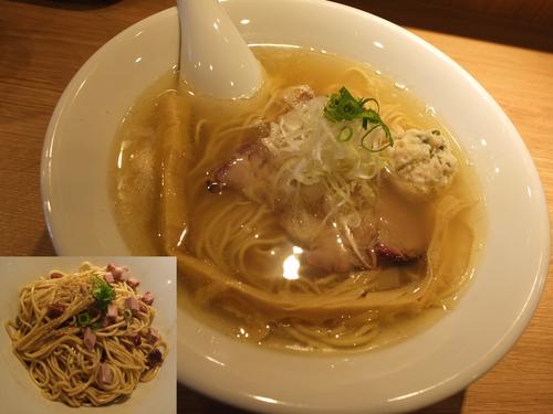 「塩らーめん+和え玉」@中華蕎麦 あお木の写真