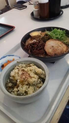 「阿蘇高菜ラーメン 高菜ごはんだって」@味千拉麺 本店の写真