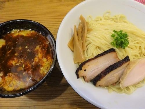 「海老入りラー油と溶き卵のつけ麺  900円」@麺屋KABOちゃんの写真