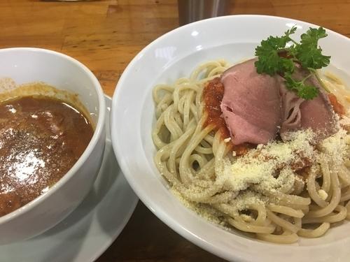 「【限定】MISOトマトつけ麺850円」@麺屋 むじゃきの写真