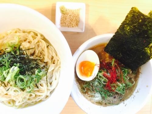 「煮干し生姜水 煮干しつけ麺」@麺屋Mの写真