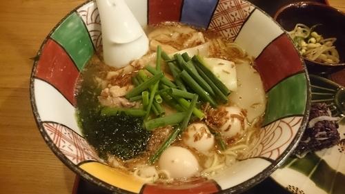 「星火ラーメンと黒米のおにぎり膳(1,050円)」@旬魚菜・炭火焼・鍋・星火の写真