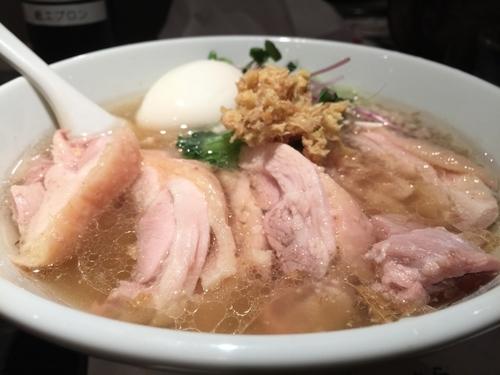 「塩生姜らー麺(肉玉入り)生姜増し」@塩生姜らー麺専門店 MANNISHの写真