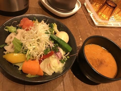 「1日分の野菜を食べる海老つけ麺&味玉」@海老鶏麺蔵の写真