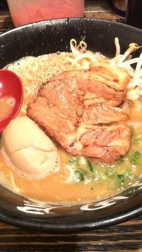「味噌味玉+半ライス」@ら〜めん村田屋の写真