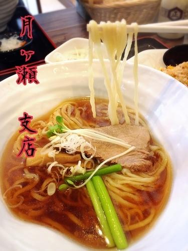 「ラーメン+半炒飯¥780」@手打ちラーメン 月ヶ瀬支店の写真