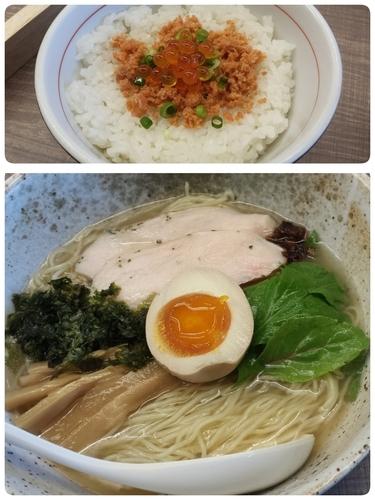 「【限定】金目鯛の冷製麺750円鮭とイクラの冷製ご飯250円」@東大和ラーメン 大冬樹の写真
