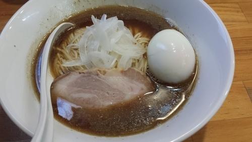 「醤油ソバ750円味玉100円」@煮干中華ソバ イチカワの写真