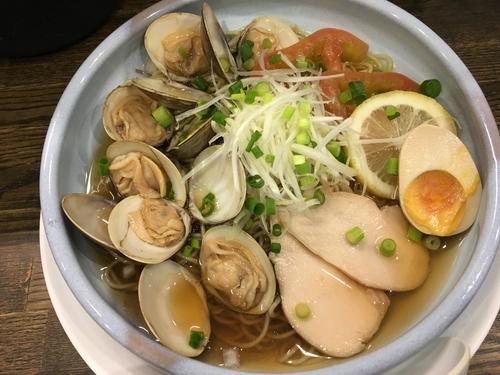 「ひやし蛤そば」@あら焼鶏白湯 カシムラの写真