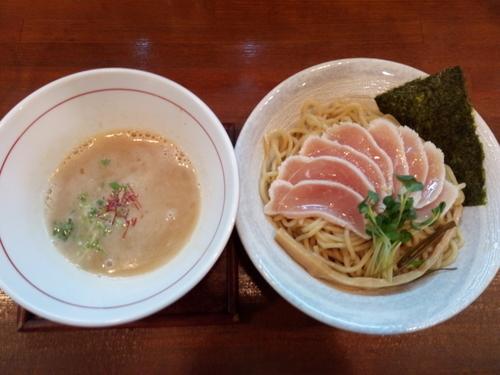 「美白白湯つけ麺」@麺ゃ しきの写真