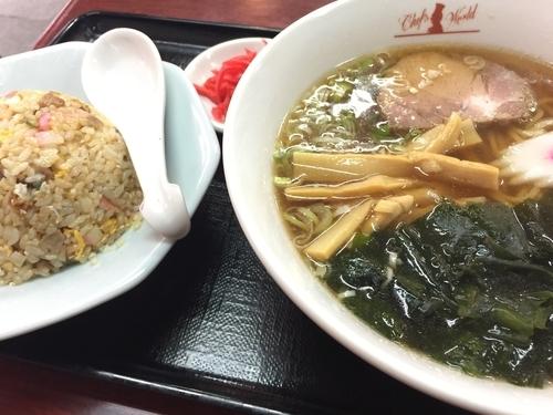 「半チャンラーメン」@らぁめん亭 リトルチャイナ 西台店の写真