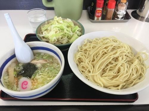 「塩もりそば  +  温野菜」@大勝軒満帆 籠原店の写真