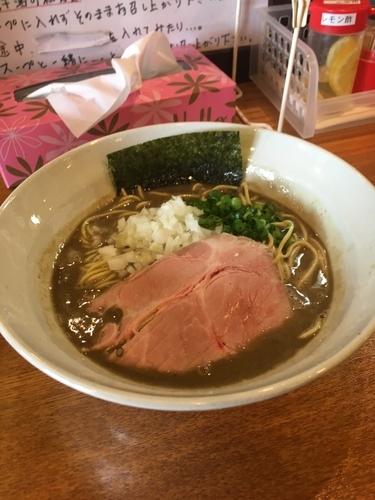 「煮干そば極800円」@麺屋 烈の写真