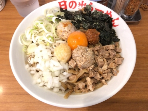 「ガッツ麺DX 大盛 780円」@日の出らーめん 南林間店の写真